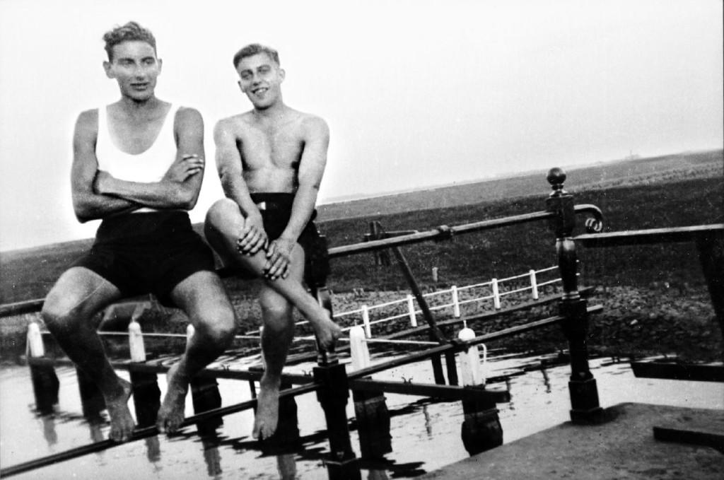 Jaap Rus en Wim Quakkelaar in 1942.