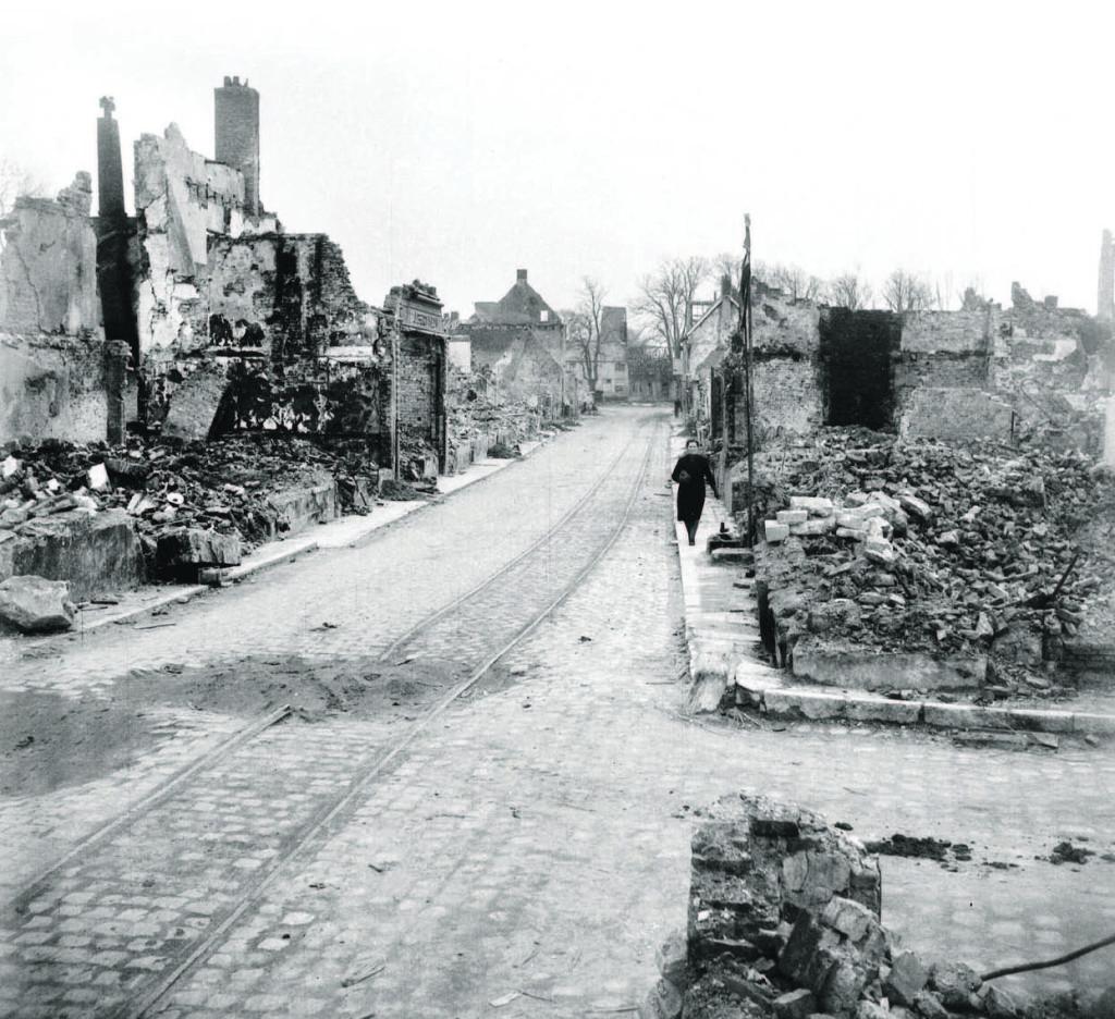 Verwoestingen in Zeeuwse dorpen eind 1944.