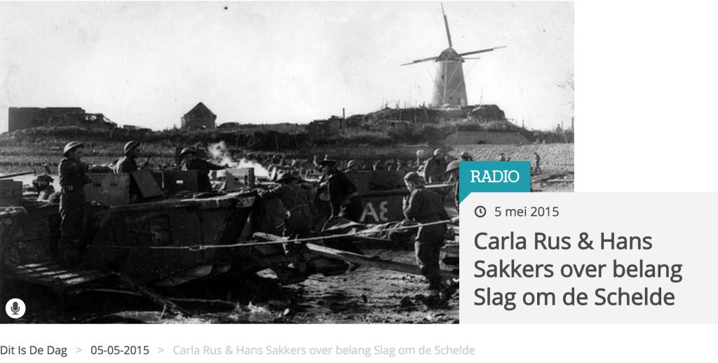 Radio interview over de slag om de Schelde